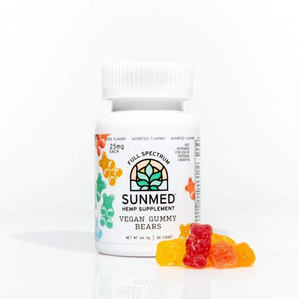 cbd edibles buy sunmed Full Spectrum vegan gummy bears fort worth 300mg 750mg full-spectrum